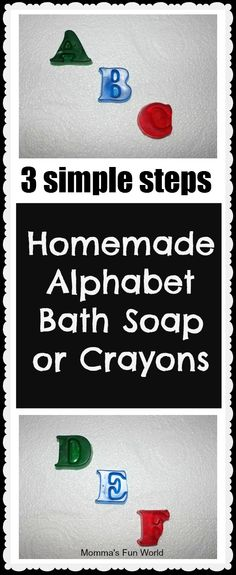 Make your own Alphabet bath soap or crayons
