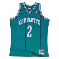 Larry Johnson Charlotte Hornets NBA Mitchell   Ness Teal Green Swingman  Throwback Jersey For Men 20bcdca87
