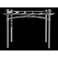 New England Arbors Venetian Decorative Arch Kit Vinyl Pergola, Garage Pergola, Deck With Pergola, Pergola Shade, Pergola Kits, Pergola Ideas, Pergola Roof, Pergola Plans, Gazebo Replacement Canopy