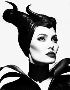 Angelina Jolie as Maleficent  #wickedwitches #disney #angelinajolie