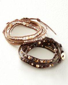 Chan Luu for Garnet Hill Crystal Wrap Bracelet - Garnet Hill