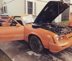 She's not looking good guys .  #foxbody #mustang #foureye #4eye #ford #automafiaracing #partspassionperformance #jointhefamily #itsnotaboat #womandrivers #dontletsistersdriveyourcar