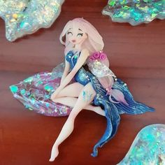Polymer Clay Figures, Polymer Clay Animals, Polymer Clay Dolls, Polymer Clay Creations, Polymer Clay Crafts, Clay Fairies, Flower Fairies, Clay People, Biscuit