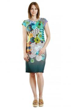 Kuce-Kleid bedrucktes Jerseykleid mit grafischem Druck von MODEE