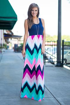Always On My Mind Maxi Dress, Navy - The Mint Julep Boutique