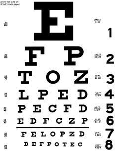 Snellen eye chart on Pinterest | Eye Chart, Software and Eye Doctor