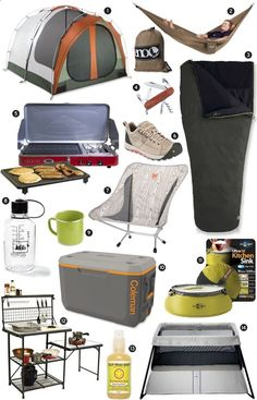 This is some cool camping stuff, I would love to have any and all of it!