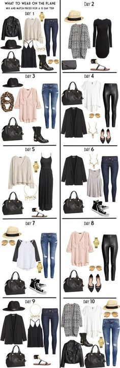 10 Day Packing List From Day to Night 2019 10 Day Packing List 20 pieces in a carry-on for Day wear built from my Capsule wardrobe. The post 10 Day Packing List From Day to Night 2019 appeared first on Bag Diy. Fashion Mode, Look Fashion, Autumn Fashion, Womens Fashion, Fashion Trends, Street Fashion, Latest Fashion, Fashion Spring, Urban Fashion