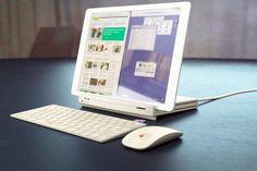 "Macintosh LCっぽい ""iPad Pro Retro-Dock"" のコンセプト画像"