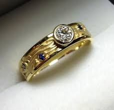 Image result for unique bezel rings
