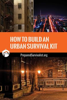 "Learn how to complete and build an urban survival kit and increase your chances of survival whatever disaster comes your way! When you hear the words ""survival situation,"" what springs to mind? For most people, they immediately imagine some kind of emergency in the great outdoors: lost in the woods, or perhaps a camping trip gone wrong. but that's not what most people are looking for. Urban Survival Kit, Survival Essentials, Survival Hacks, Survival Tools, Survival Prepping, Emergency Preparedness, Bushcraft Kit, Bushcraft Skills, Outdoor Survival Gear"