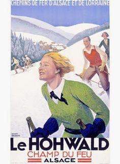 Vintage France Travel Posters railway Alsace Lorraine