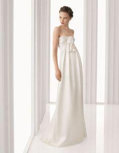 rosa clará - wedding dress - bridal - rosa clará - 2012 - argel - crepe satin dress, in ivory