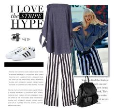 """""""stripe hype"""" by crisp ❤ liked on Polyvore"""