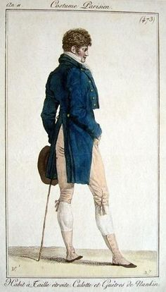 A Dandy was a man during the Empire period who prided himself on his personal appearance and dressing impeccably.