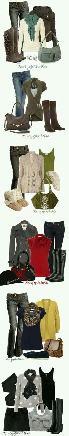 Super cute outfits!! :)