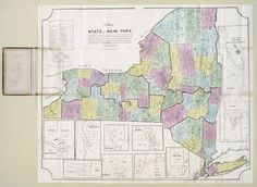 map of the state of New York 1845