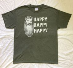 TShirt DUCK DYNASTY Happy Happy Happy in Heather by TshirtMarket, $7.99