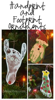 Hand and Footprint art is so great! Great tips for making these ornaments for Christmas!
