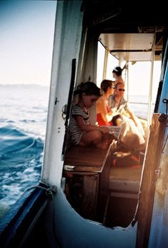Reading while mom and dad sail the boat around the world?