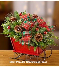 Shop Christmas flowers & gifts for delivery to celebrate the season! Find beautiful Christmas floral arrangements and holiday flowers. Christmas Flower Arrangements, Holiday Centerpieces, Christmas Flowers, Christmas Table Decorations, Christmas Tables, Centerpiece Ideas, Floral Arrangements, Tartan Christmas, Rustic Christmas