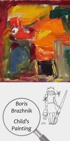 "Boris Brazhnik (6 years) | Child's Painting | Printable | Design | Interior | Instant Download | Digital Image | ""Red Chicken"" (fragment) Oil on Canvas 20x28cm | Child's Art Drawing Orange | №B-002 Painting For Kids, Art For Kids, Red Chicken, Sharp Prints, Printable Designs, Digital Image, 6 Years, Oil On Canvas, Art Drawings"