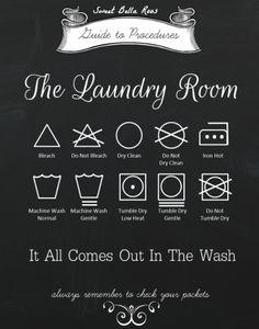 Free Laundry Room Printable