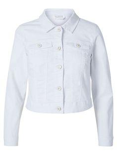 White denim jacket from Noisy may