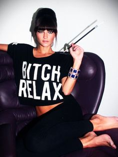 Bitch Relax top from Married to the Mob Holiday 2012 Lookbook