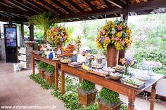 mesa do bolo decoração rustica - Pesquisa Google