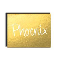 Phoenix Arizona Postcard Flat Card  Hand by Floating Specks on Etsy, $4.50