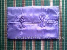 Souvenir Pernikahan Murah: Cover Tissue Saten Polos