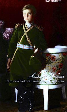 Tsarevich Alexei Nikolaevich Romanov of Russia (1904-1918), year 1911. by ~VelkokneznaMaria