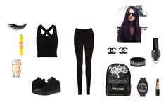 """""""tenue de sport 2"""" by manon-smack ❤ liked on Polyvore featuring Oasis, Converse, adidas, Bobbi Brown Cosmetics, Maybelline and Illamasqua"""
