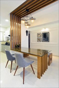 10 Creative Ideas for Dining Room Walls – Einrichten und Wohnen House Ceiling Design, Ceiling Design Living Room, Kitchen Room Design, Home Ceiling, Dining Room Walls, Dining Room Design, Ceiling Ideas, Design Table, Kitchen Ceiling Design