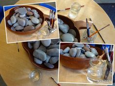 """Painting stones with water... from Rachel ("""",)"""