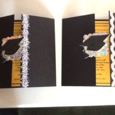 Homemade Grad Invite Cards