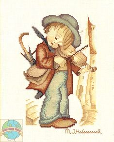 """The Little Fiddler"" Hummel cross stitch kit"