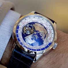 Get a closer look at the orbital flying tourbillon, which draws the map of the world into eternal movement on the dial of the Geophysic Tourbillon Universal Time ________________  #JaegerLeCoultre#Geophysic #UniversalTime #WorldTimer#watch #watches #time #timepiece #timepieces #Watchmaking #Luxury #Luxurywatch #luxurywatches #swissmade #watchmaking#elegance #HauteHorlogerie #wristshot #Tourbillon