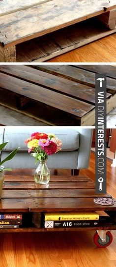 So cool - DIY Pallet Coffee Table - DIY Home Decor Ideas on a Budget - Click for Tutorial | CHECK OUT SOME GREAT PICTURES OF Home Decor DIY Projects 2014 AT DIYINTERESTS.COM | #diyinterests #diyprojects #2014 #diy #hammertime #doityourself #fix #creative #home #homedecor #ilovediy #getitdone