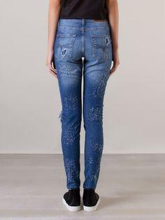 Cavalera Calça Skinny Jeans Destroyed - Cavalera - Farfetch.com