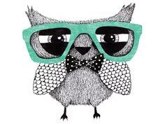 An animal with enlarged glasses - emphasis on 'designer'.