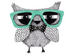 hipster owl by anna grape
