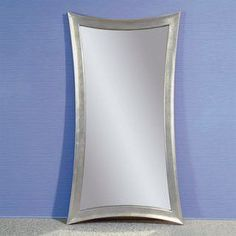 Bassett Mirror Company 45-In X 82-In Silver Leaf Rectangle Framed Cont