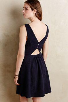 Textured Double-V Dress - anthropologie.com #anthrofave