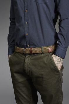 Makia Braided Canvas Belt