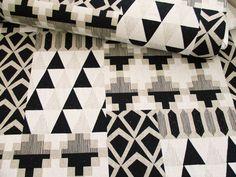 ▲綿麻 - 商品詳細 綿麻シーチング 幾何学模様(5) 110cm巾/生地の専門店 布もよう