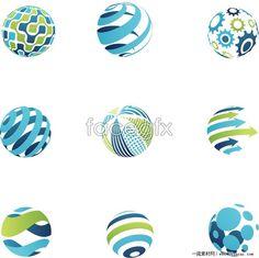 Solid circle logo design vector