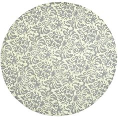 @Overstock - This hand-hooked contemporary design features timeless looks from a pure virgin wool pile providing comfort and softness to the touch made from an all-natural material.http://www.overstock.com/Home-Garden/Hand-hooked-Chelsea-Damask-Beige-Wool-Rug-8-Round/7658672/product.html?CID=214117 $324.99