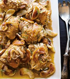Cider-Braised Chicken Thighs with Caramelized Apples